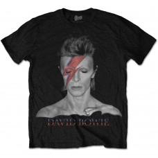 David Bowie : Aladdin Sane (Black) (T-Shirt)