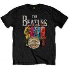 Beatles : Sgt Pepper (Black) (T-Shirt)