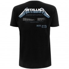 Metallica : Master Of Puppets Tracks (Black) (T-Shirt)