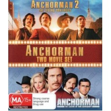 Anchorman: Two Movie Set 3 Disc Set : Anchorman: Two Movie Set 3 Disc Set (Blu-Ray DVD) Second Hand