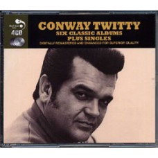 Conway Twitty : Six Classic Albums Plus Singles: 4CD (CD Box Set)