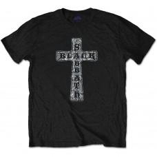 Black Sabbath : Cross Diamante (Black) (T-Shirt)