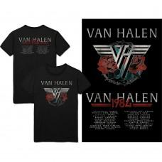 Van Halen : Classic Red Logo (Navy) (T-Shirt)