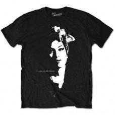 Amy Winehouse : Scarf Portrait (Black) (T-Shirt)