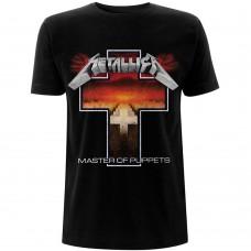 Metallica : Master Of Puppets Cross (Black) (T-Shirt)