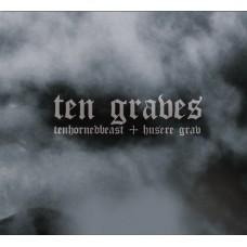 Tenhornedbeast + Husere Grav : Ten Graves (CD)